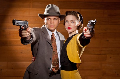 Holliday Grainger and Emile Hirsch as Bonnie and Clyde 2013