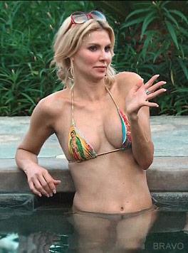Brandi Glanville bikini swimming pool Real Housewives of Beverly Hills episode