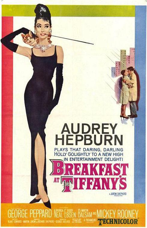 Breakfast at Tiffany's movie poster Audrey Hepburn
