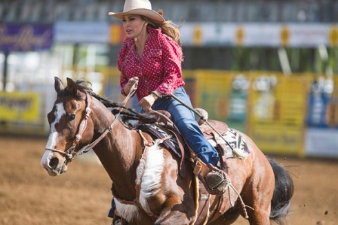 Rodeo Girls Darcy LaPier barrel racing