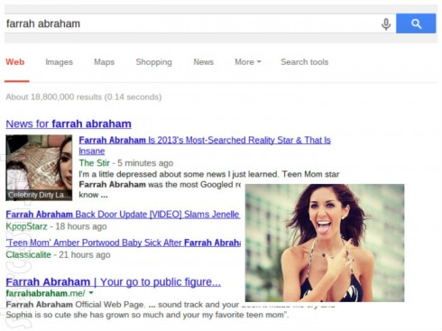 Farrah Abraham - Most Searched Reality Star 2013
