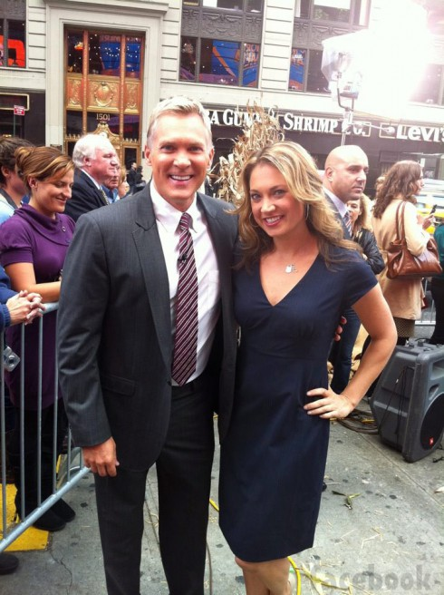 Sam Champion with Ginger Zee together