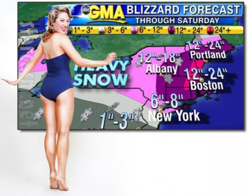 GMA Ginger Zee pinup weather map