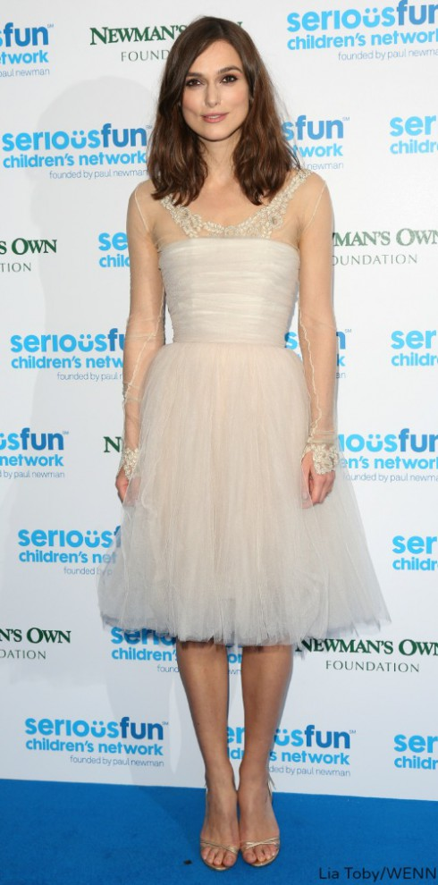 Keira Knightley Repurposed Wedding Dress - SeriousFun Gala
