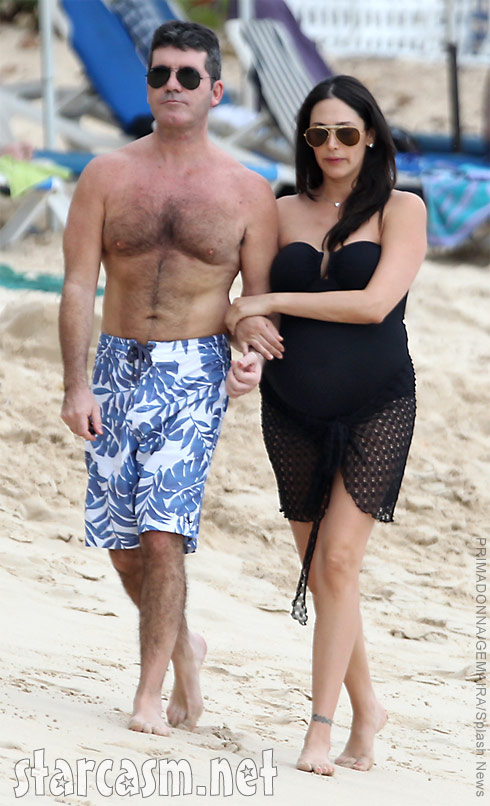 Simon Cowell and pregnant girlfriend Lauren Silverman together