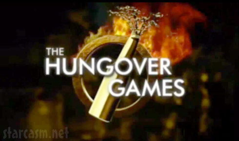 The Hungover Games logo parody movie