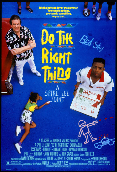 Spike Lee do the right thing movie poster