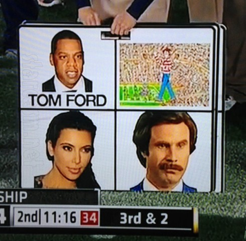 Auburn Ron Burgundy Kim Kardashian Jay-Z Where's Waldo sideline Rose Bowl