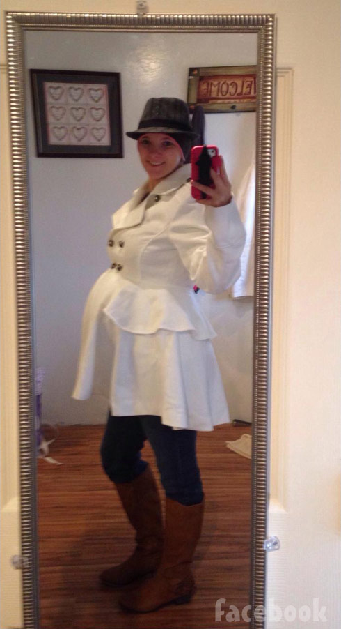 Breaking Amish Rebecca Byler pregnant baby bump photo