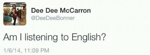Dee Dee McCarron tweet