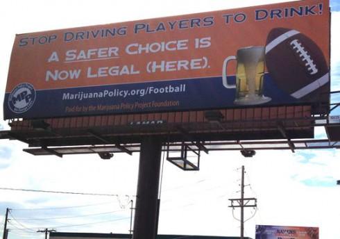 Denver Broncos - Marijuana Policy Project Billboard