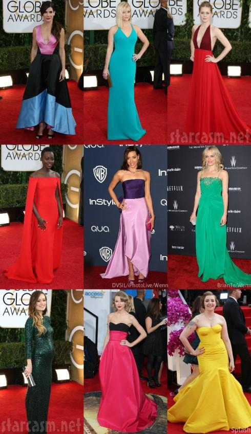 Golden Globes Fashion - Colorful Dresses