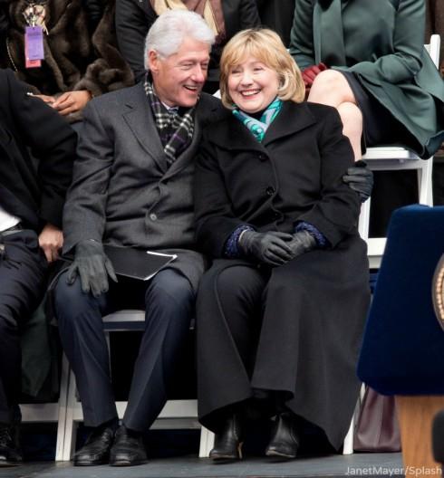Hillary Clinton and Bill Clinton - NYC Inaguration