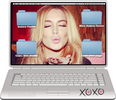 Lindsay Lohan offers reward for return of laptop