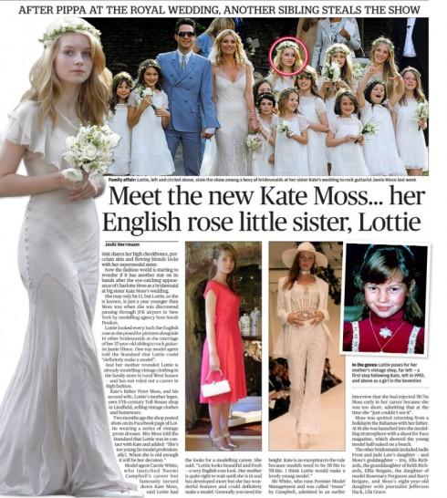 Lottie Moss - Kate Moss' Wedding