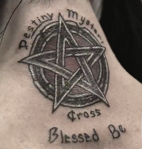 Photo Carlton Gebbia S Pentagram Tattoos