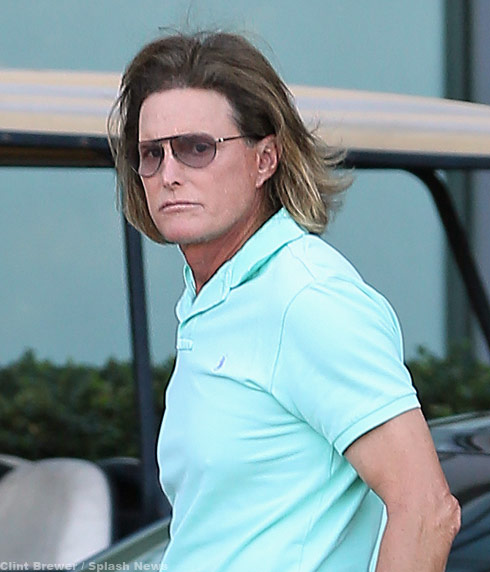 "Bruce Jenner after having his Adam's Apple ""flattened"""