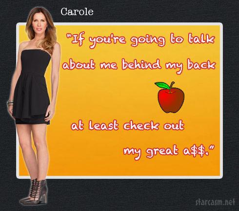 Carole Radziwill Season 6 catchphrase