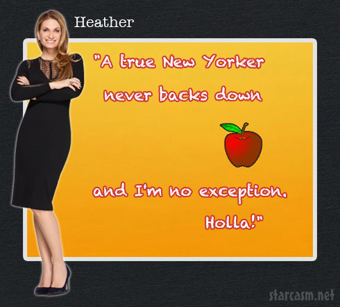 Heather Thomson Season 6 Catchphrase