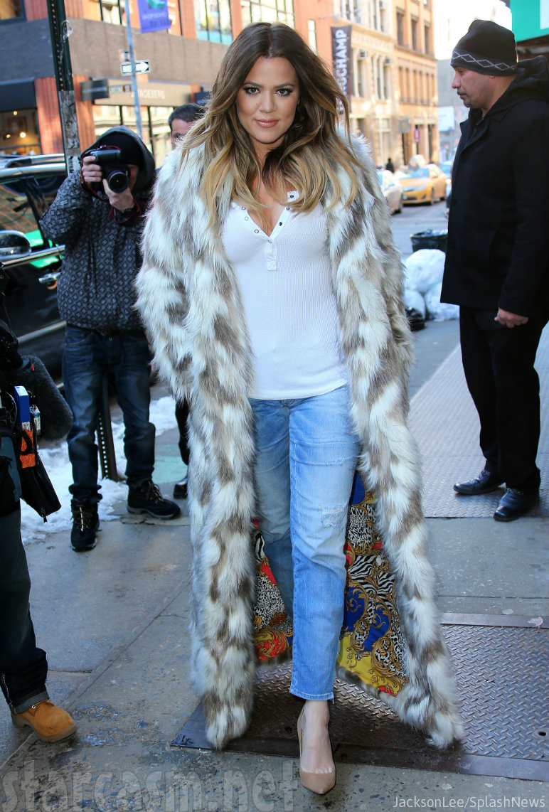 F**k yo fur'': Khloe Kardashian makes her views heard in ...