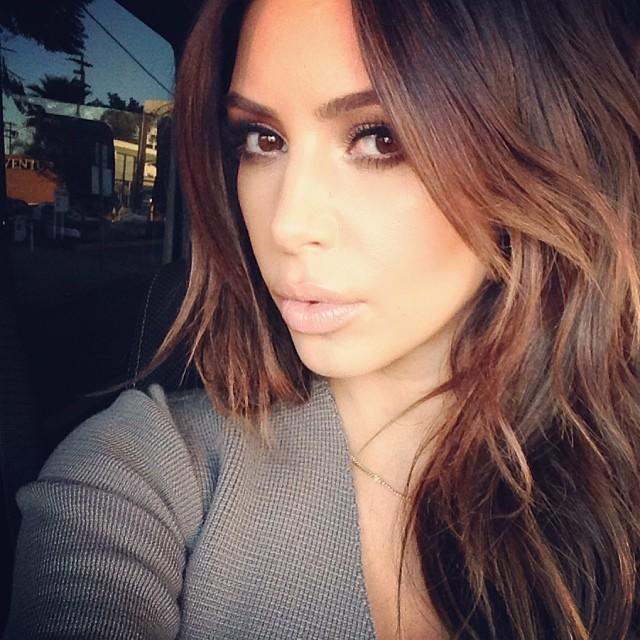 Kim Kardashian Brunette