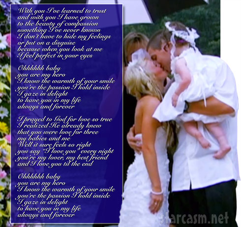 Leah Messer and Jeremy Calvert wedding song Always and Forever lyrics - Click to enlarge
