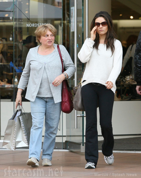 Mila Kunis and her mom together