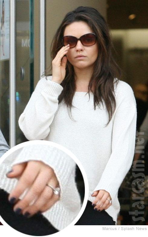 Mila Kunis engagement ring photo