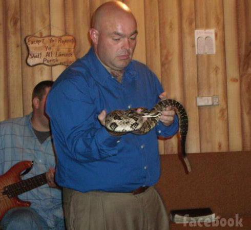 Snake handling preacher Pastor Jamie Coots