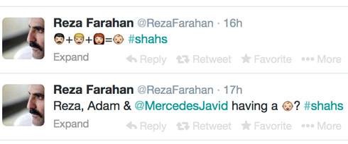 Shahs of Sunset's Reza Farahn tweets hinting that Mercedes is carrying his and Adam Neely's baby