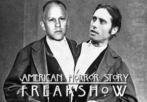 American Horror Story Freak Show Ryan Murphy Brad Falchuk as Siamese twins Chang and Eng Bunker