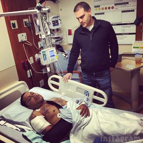Rapper Benzino shot hospital photo