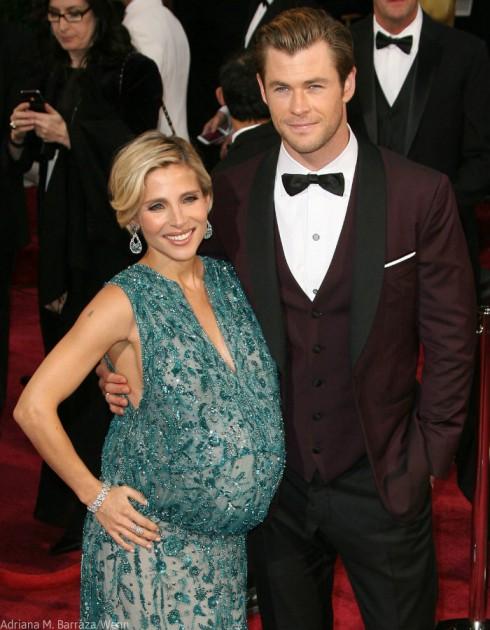 Chris Hemsworth - Elsa Patacky Oscars Dress