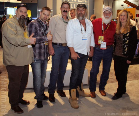 Cast of Gold Rush at convention in Las Vegas Todd Hoffman Tony Beets Melody Tallis and more