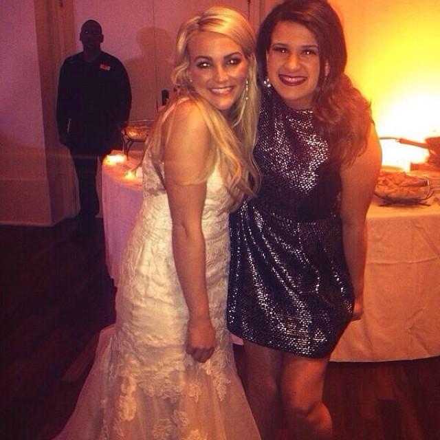 dc879888cca Jamie Lynn Spears wedding photos with Britney Spears