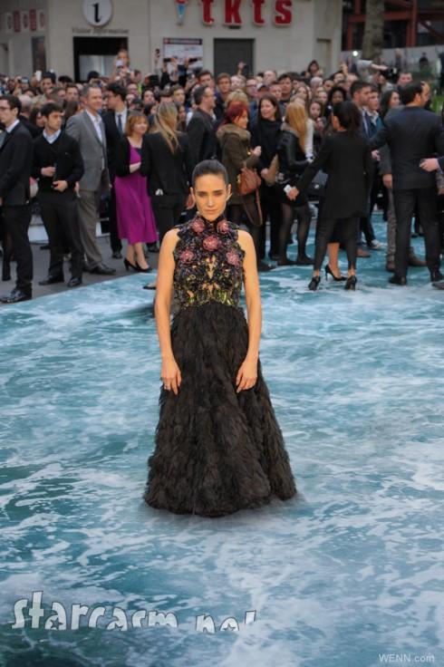 Jennifer Connelly Noah UK premiere faux water red carpet flood carpet