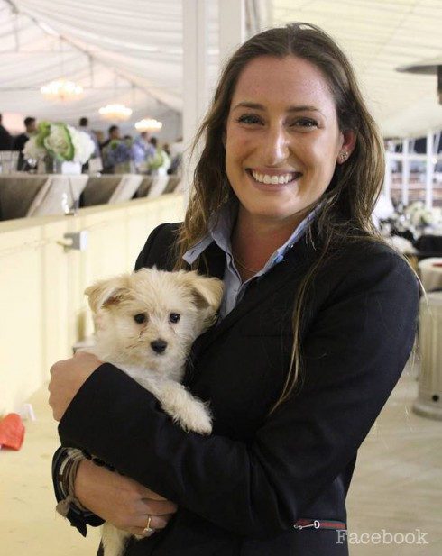 Bruce Springsteen's daughter Jessica with her new puppy Timberlake
