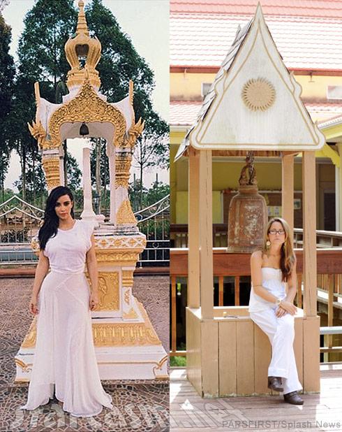 Kim Kardashian Jenelle Evans Buddhist temple monastery