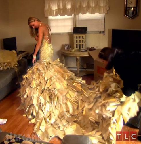 My Big Fat American Gypsy Wedding Season 3 gold Sondra Celli dress