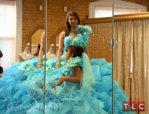 My Big Fat American Gypsy Wedding Season 3 blue wedding dress mirror