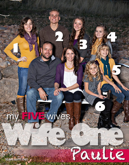My Five Wives Brady Williams and his first wife Paulie family photo with their children Karlie Joshua Madeline September Maura and Camry