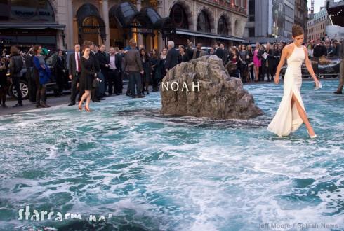 UK premiere of Noah flood carpet Emma Watson slit dress
