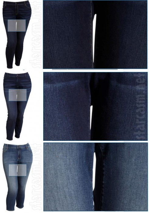 Old Navy Photoshopped thigh gaps jeans photos