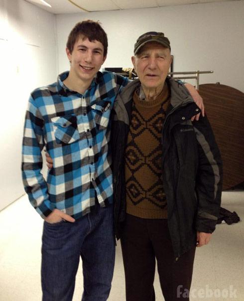Gold Rush Parker Schnabel and Grandpa John Schnabel photo