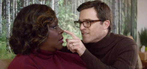Retta and Mike Doyle in the Bleachers I Wanna Get Better music video