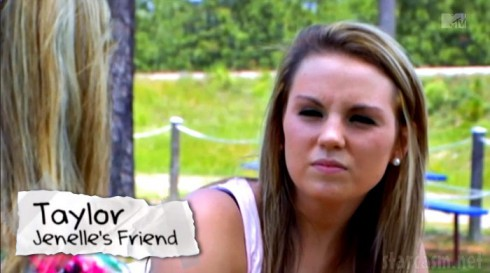 Jenelle Evans' friend and Courtland Rogers' baby mama Taylor Lewis on Teen Mom 2