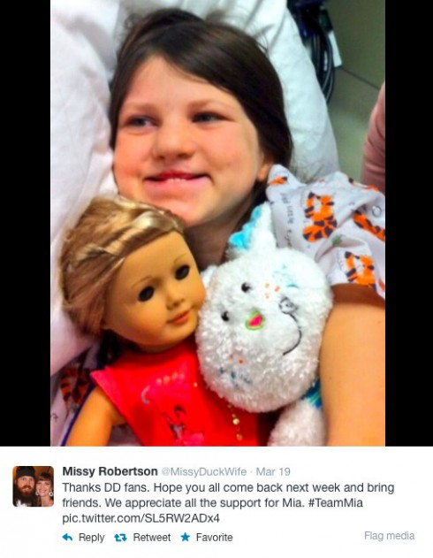 Duck Dynasty Jase Missy Daughter Surgery Duck Dynasty