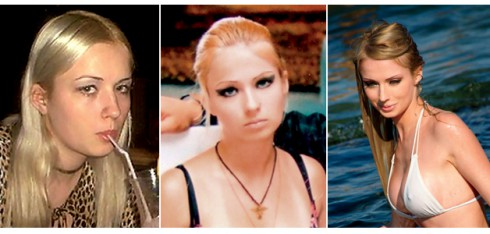 Before and After Human Barbie Valeria Lukyanova