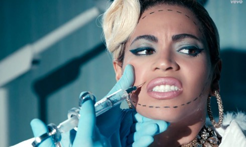 Beyonce Pretty Hurts music video botox injections