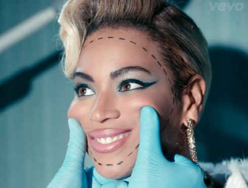 Beyonce Pretty Hurts music video plastic surgery smile
